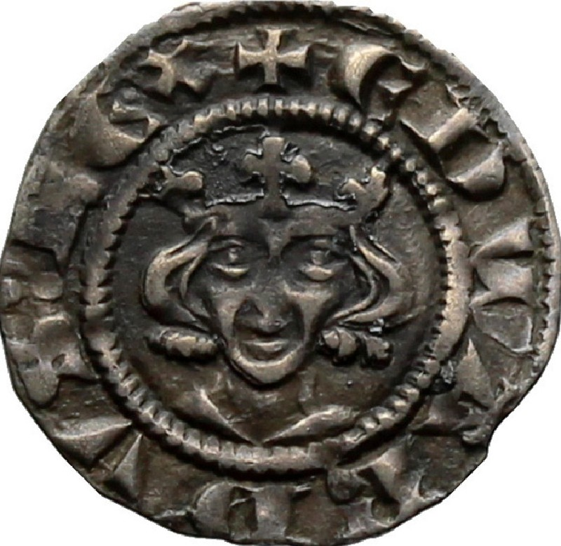 Medieval coin (HCR36880, record shot)