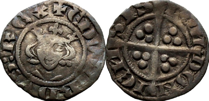 Medieval coin (HCR36881, obverse and reverse, record shot)