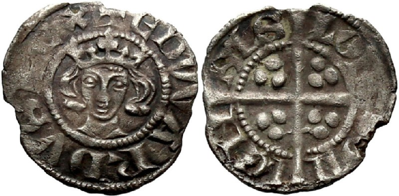 Medieval coin (HCR36899, obverse and reverse, record shot)