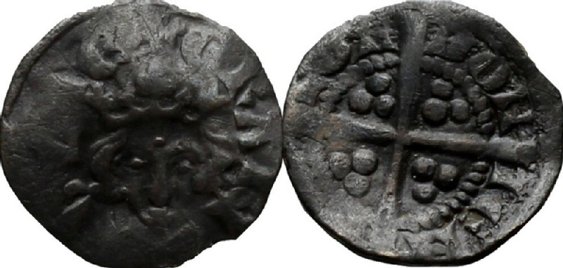 Medieval coin (HCR36908, obverse and reverse, record shot)