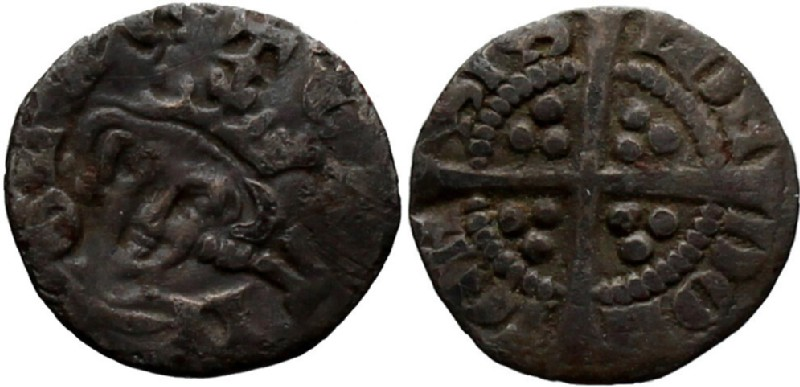 Medieval coin (HCR36911, obverse and reverse, record shot)