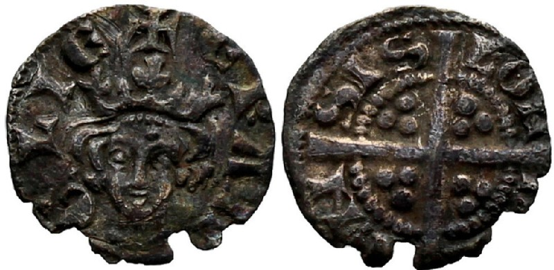 Medieval coin (HCR36913, obverse and reverse, record shot)