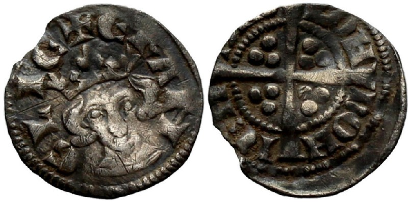 Medieval coin (HCR36918, obverse and reverse, record shot)