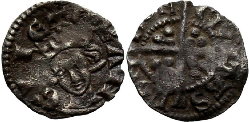 Medieval coin (HCR36928, obverse and reverse, record shot)