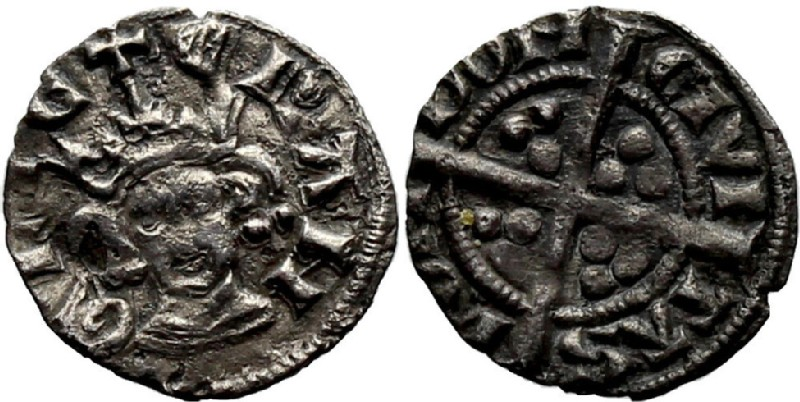 Medieval coin (HCR36931, obverse and reverse, record shot)