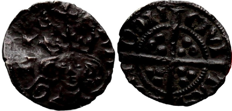 Medieval coin (HCR36933, obverse and reverse, record shot)
