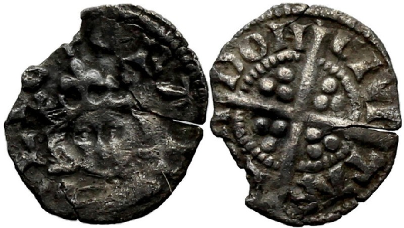 Medieval coin (HCR36944, obverse and reverse, record shot)