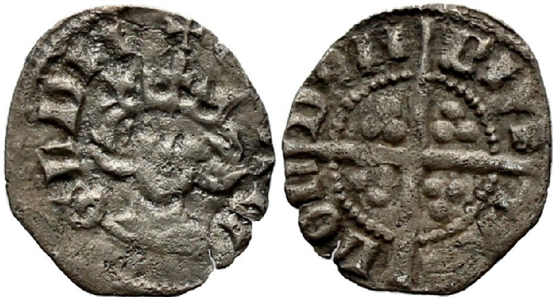 Medieval coin (HCR36955, obverse and reverse, record shot)