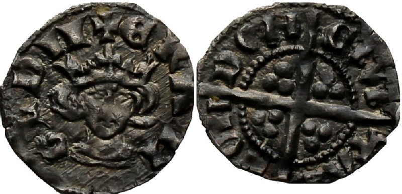 Medieval coin (HCR36956, obverse and reverse, record shot)
