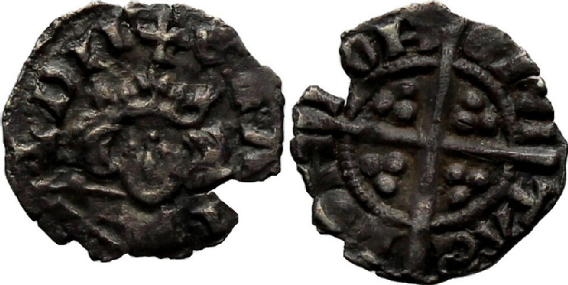 Medieval coin (HCR36957, obverse and reverse, record shot)