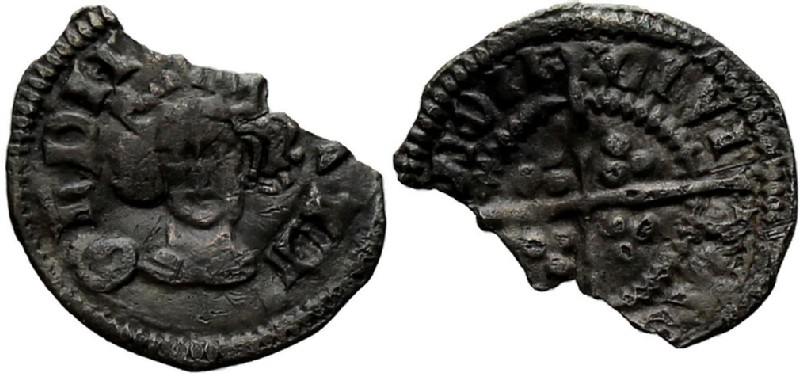 Medieval coin (HCR36959, obverse and reverse, record shot)