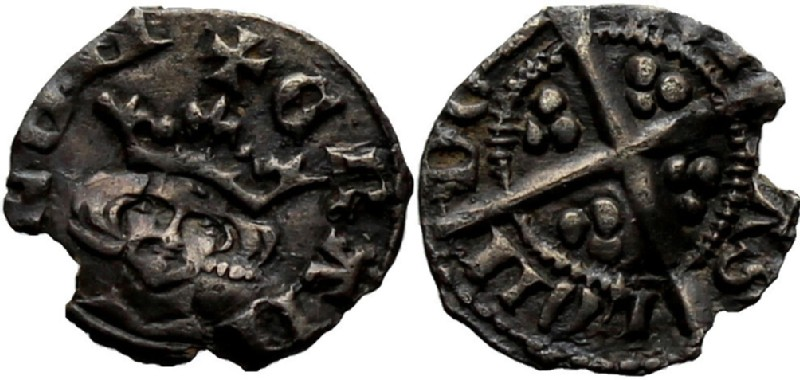Medieval coin (HCR36964, obverse and reverse, record shot)