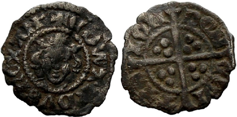 Medieval coin (HCR36974, obverse and reverse, record shot)