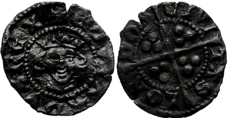Medieval coin (HCR36978, obverse and reverse, record shot)