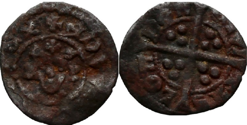 Medieval coin (HCR36983, obverse and reverse, record shot)