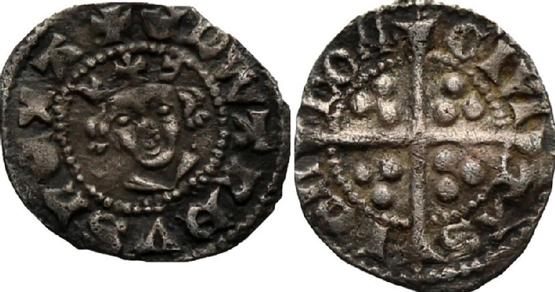 Medieval coin (HCR36985, obverse and reverse, record shot)