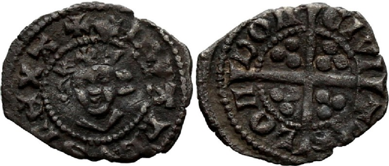 Medieval coin (HCR36986, obverse and reverse, record shot)