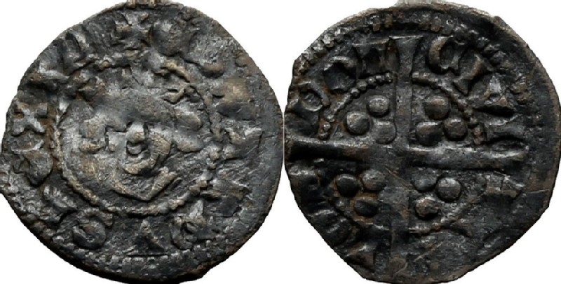 Medieval coin (HCR36997, obverse and reverse, record shot)