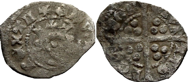 Medieval coin (HCR36998, obverse and reverse, record shot)