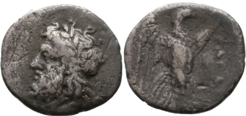 Ancient Greek coin (HCR42198, obverse and reverse, record shot)