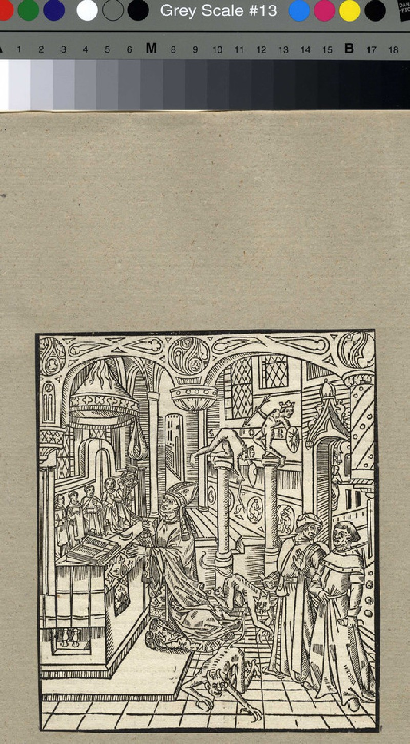 St Augustine celebrating mass