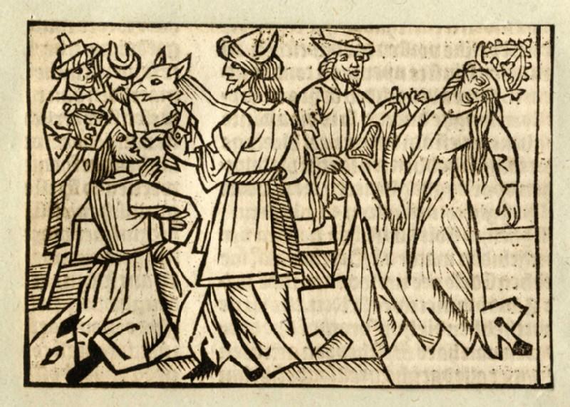 Recto: Julia and Pompey the Great<br />Verso: letterpress