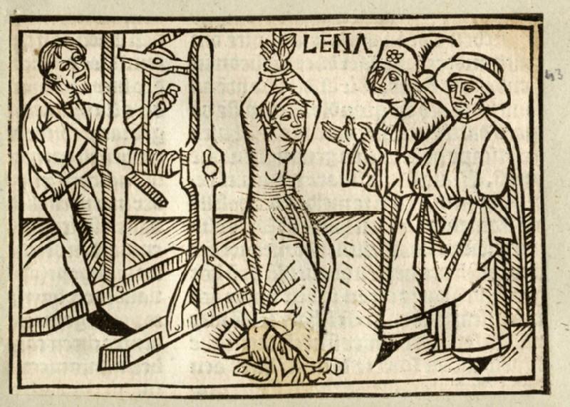 Recto: Leaena being tortured<br />Verso: letterpress