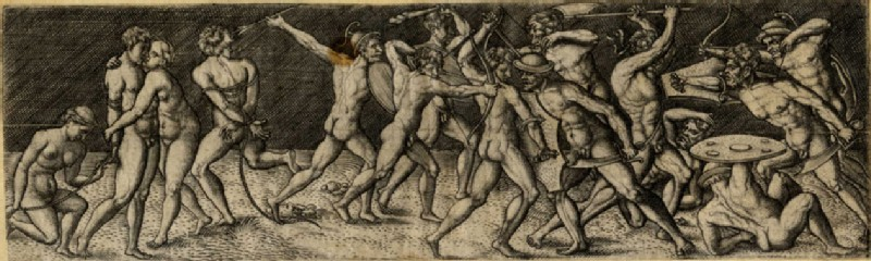 Fight between eleven naked warriors in various contortions (WA1863.11893, record shot)