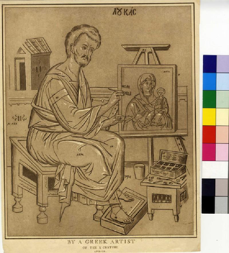 Saint Luke painting the Virgin and Child, after a Byzantine painting (WA1863.11933, record shot)