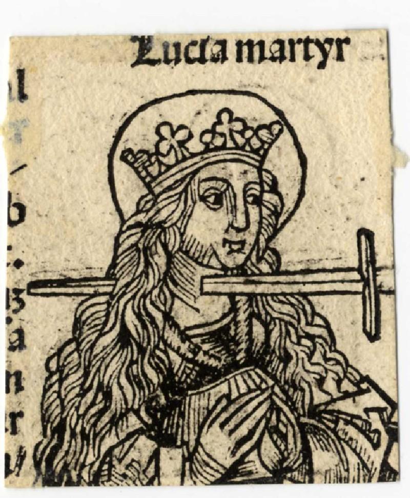 Recto: Saint Lucy martyr<br />Verso: Saints Sergius and Bacchus