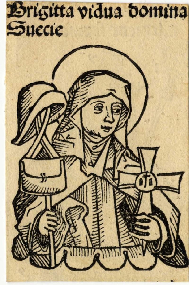 Recto: Saint Bridget<br />Verso: Pope Clemens VI