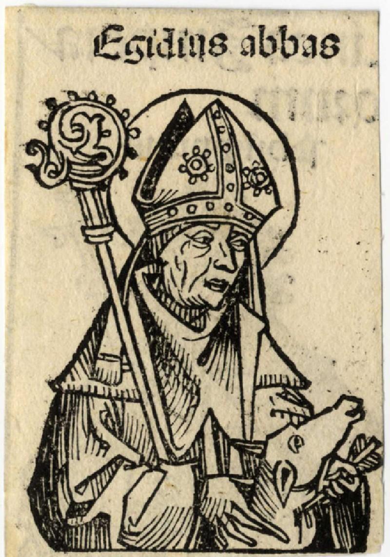Recto: Abbot Egidius<br />Verso: Philippicus