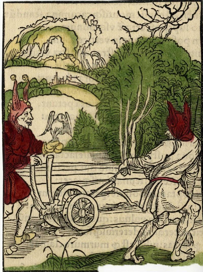 Recto: The plough fools<br />Verso: Letterpress