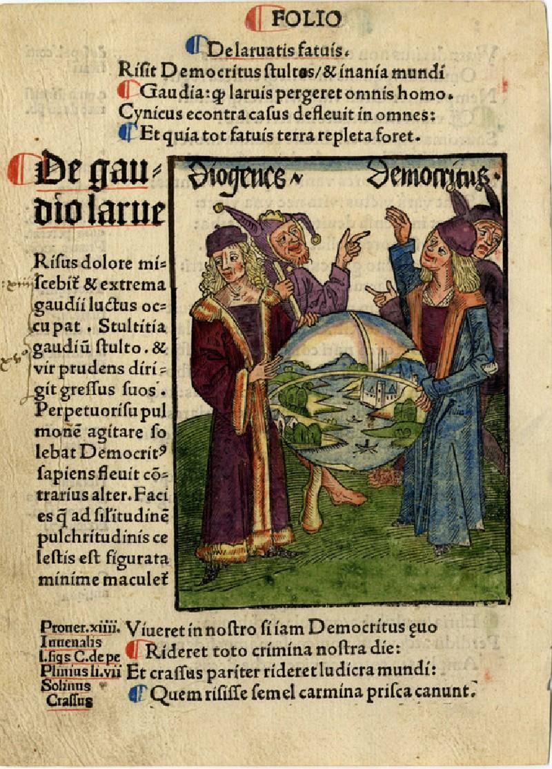 Recto: Philosophy and science<br />Verso: Letterpress (WA1863.12719, record shot)