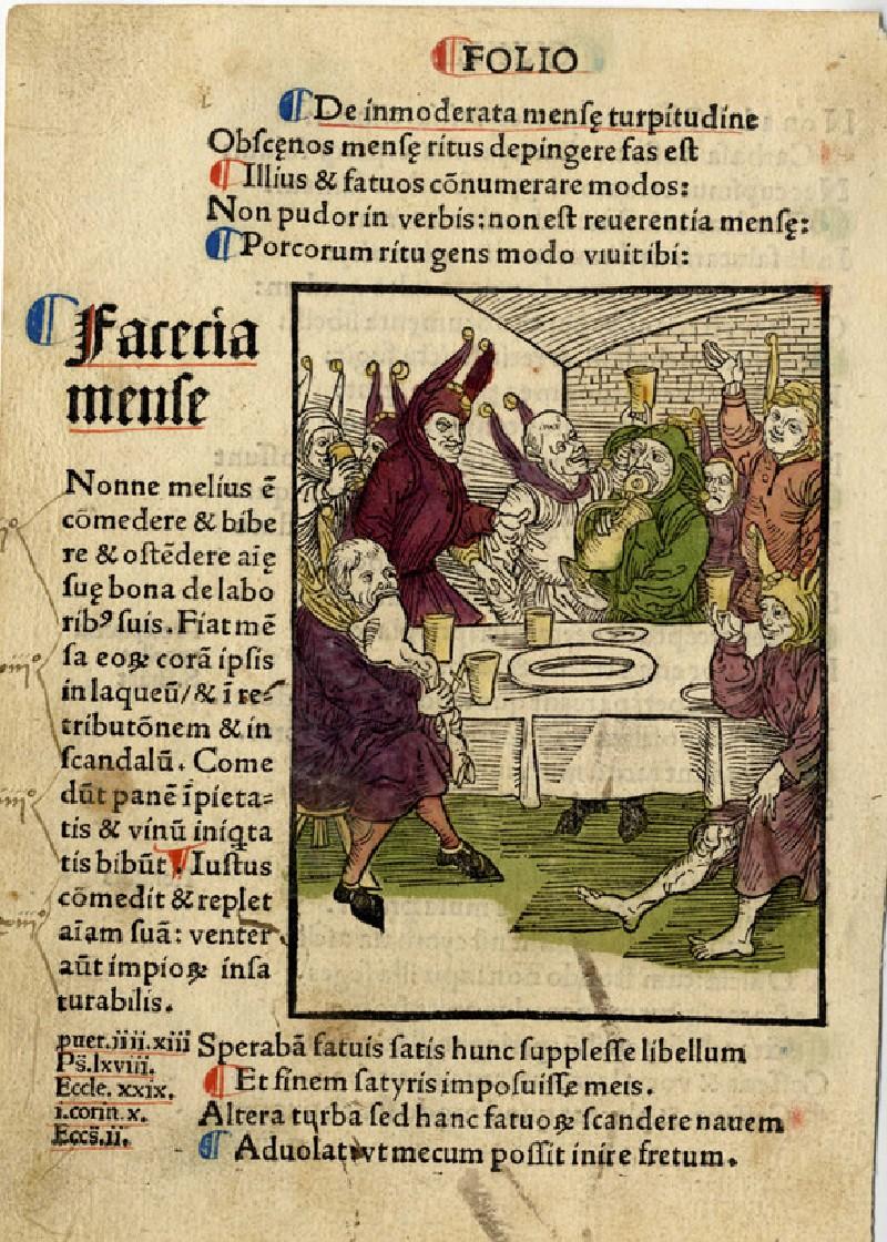Recto: Fools' banquet<br />Verso: Letterpress (WA1863.12720, record shot)