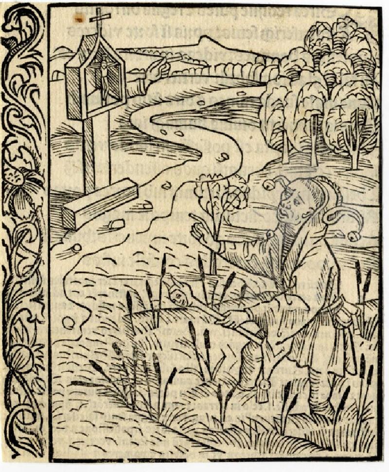 Recto: Accusing fool<br />Verso: Letterpress (WA1863.12729, record shot)