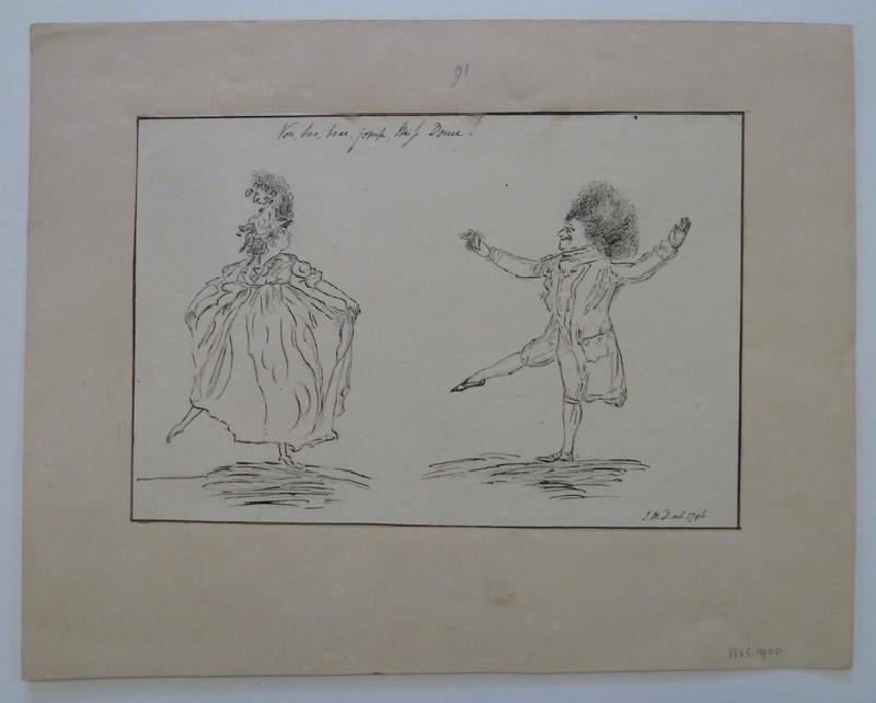 A Man and Woman dacing (WA1863.1400, record shot)