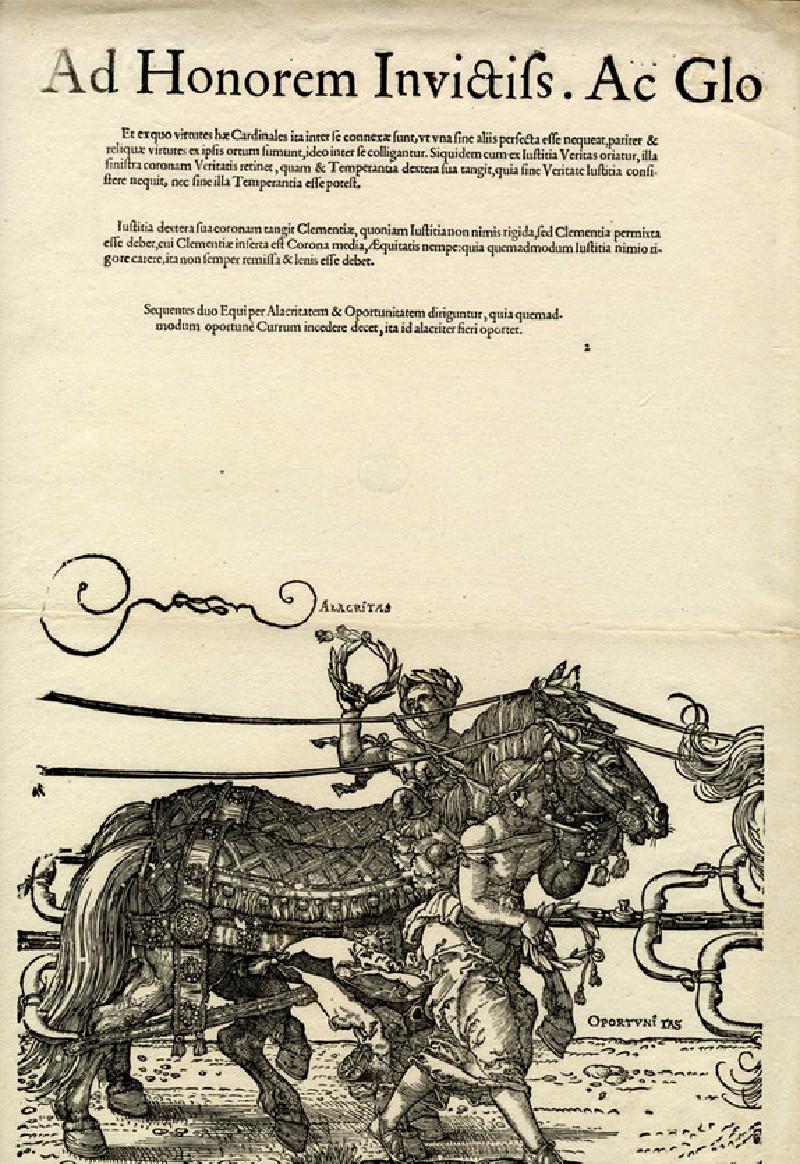 The Triumphal Chariot of Maximilian I, block D, copy (WA1863.2617.4, record shot)
