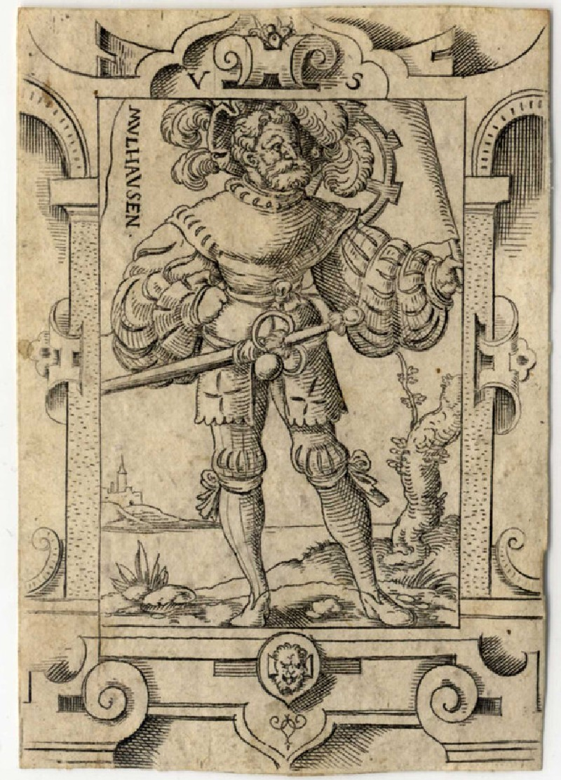 Swiss mercenary with the coat of arms of Mulhausen