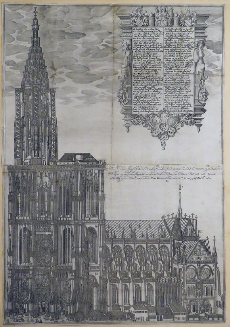 View of the cathedral of Strasbourg (WA1863.3716, record shot)