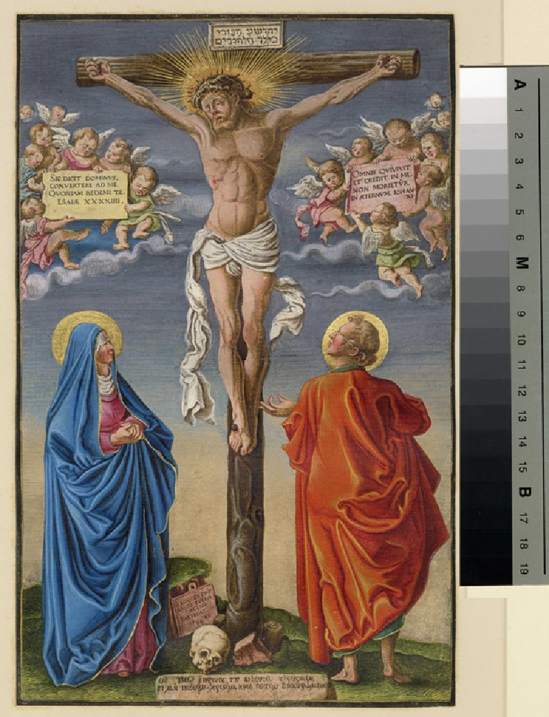 Christ on the Cross between the Virgin and St John (WA1863.5850, record shot)