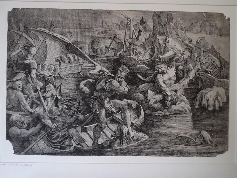 Sailors resisting men trying to board their ships (WA1863.6654, record shot)