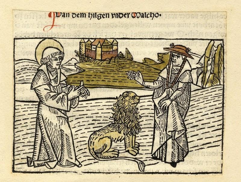 A pilgrim meets St Malchus