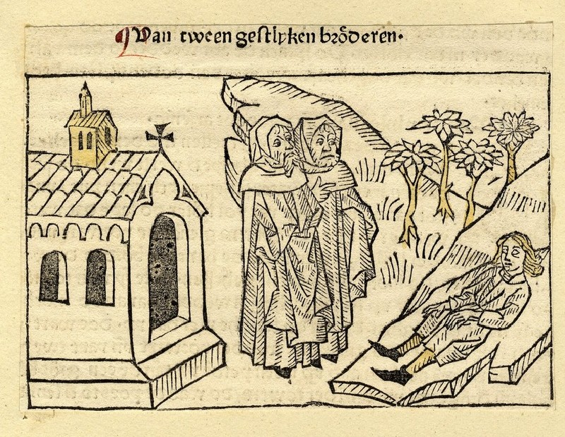 Two clergymen and a dead man