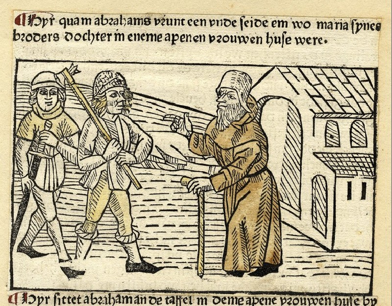 Two armed men and an hermit