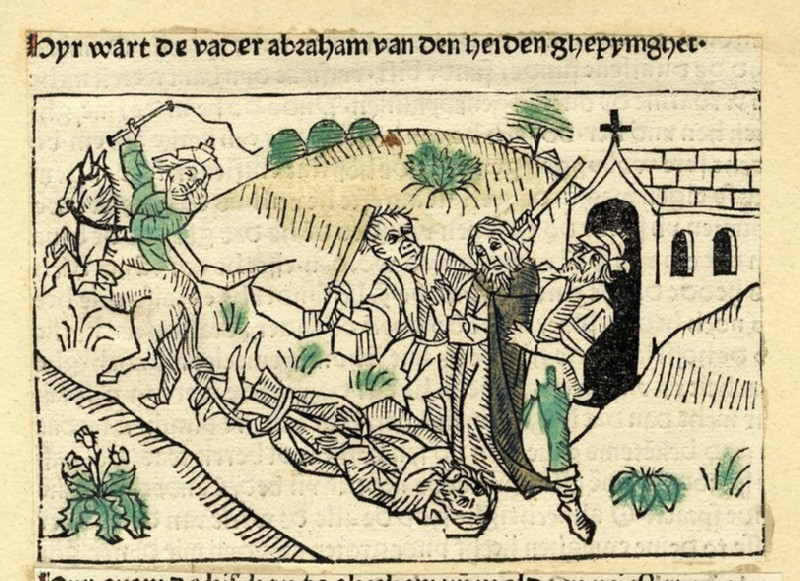 Two clergymen are being tortured