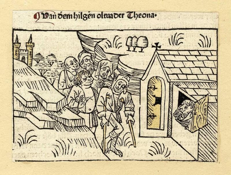A group of sick men reach a house