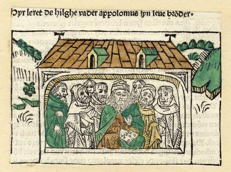 Clergymen in a church (WA1863.6761, record shot)
