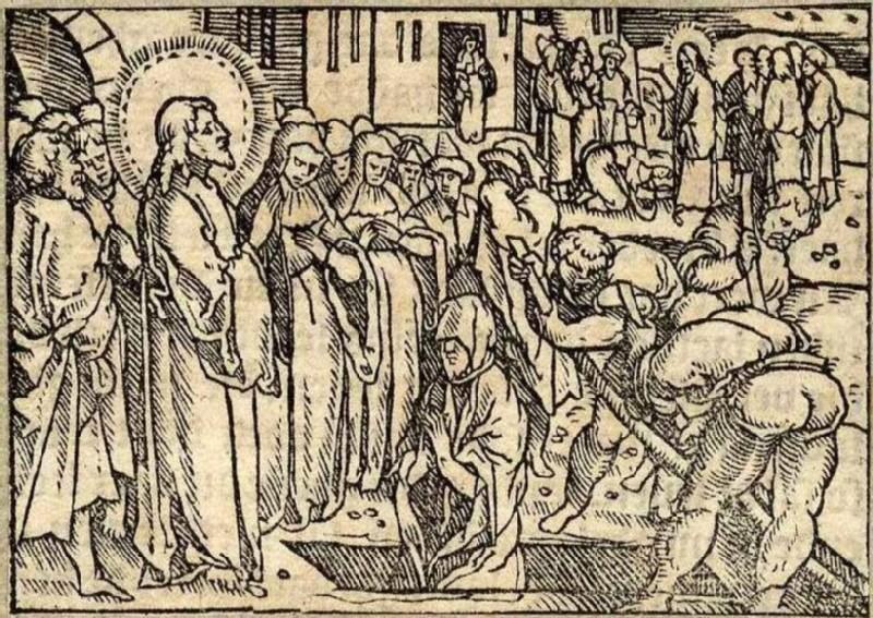 The Raising of Lazarus (WA2003.Douce.6307, record shot)