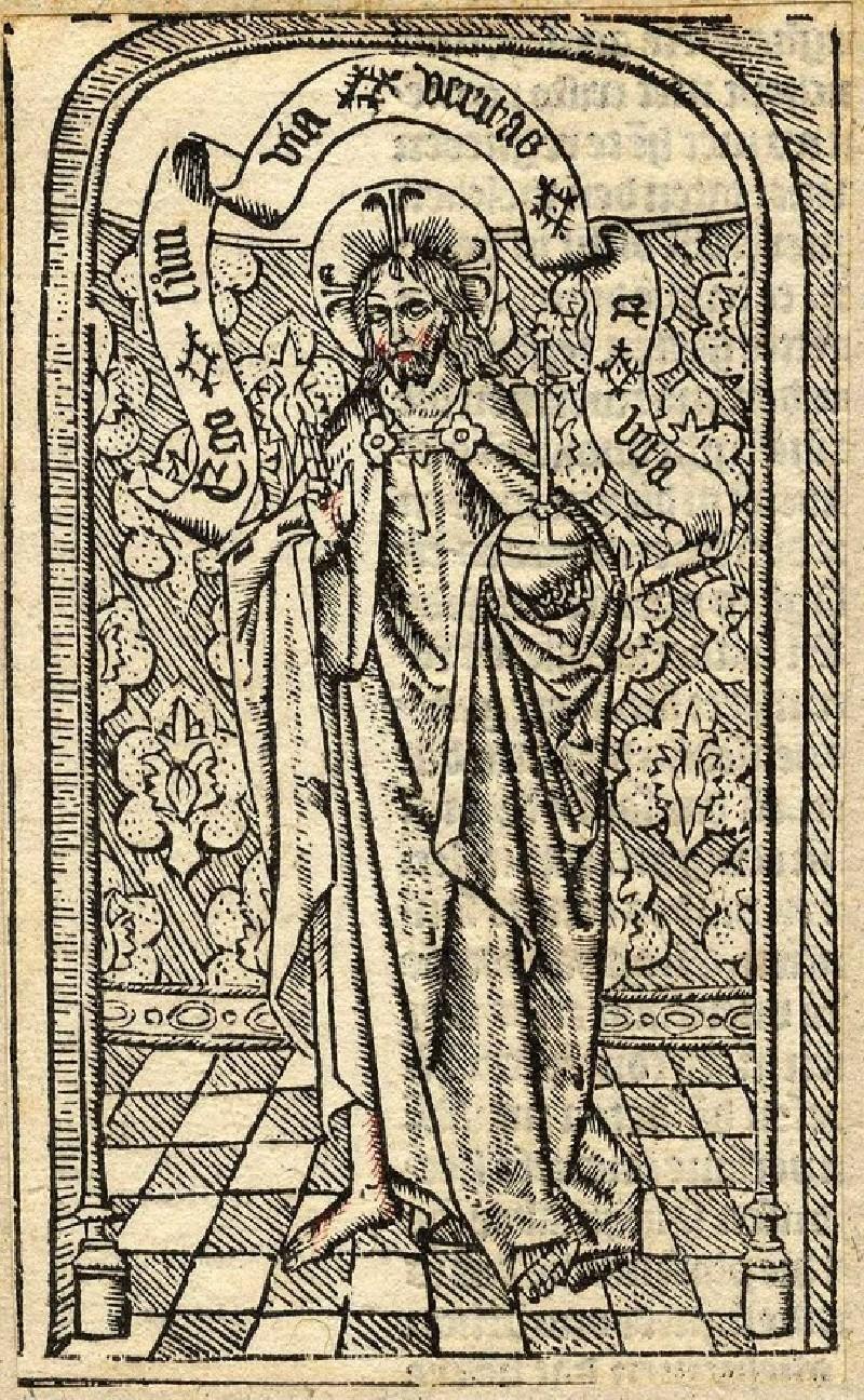 Jesus Christ as Salvator Mundi (WA1863.7119, record shot)